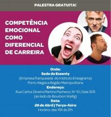"Palestra Gratuita ""COMPETÊNCIA EMOCIONAL COMO DIFERENCIAL DE CARREIRA"""
